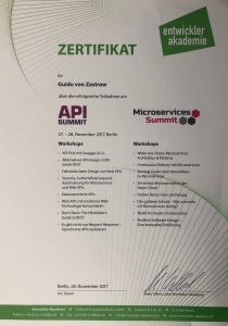 Zertifikat-API-Summit2017