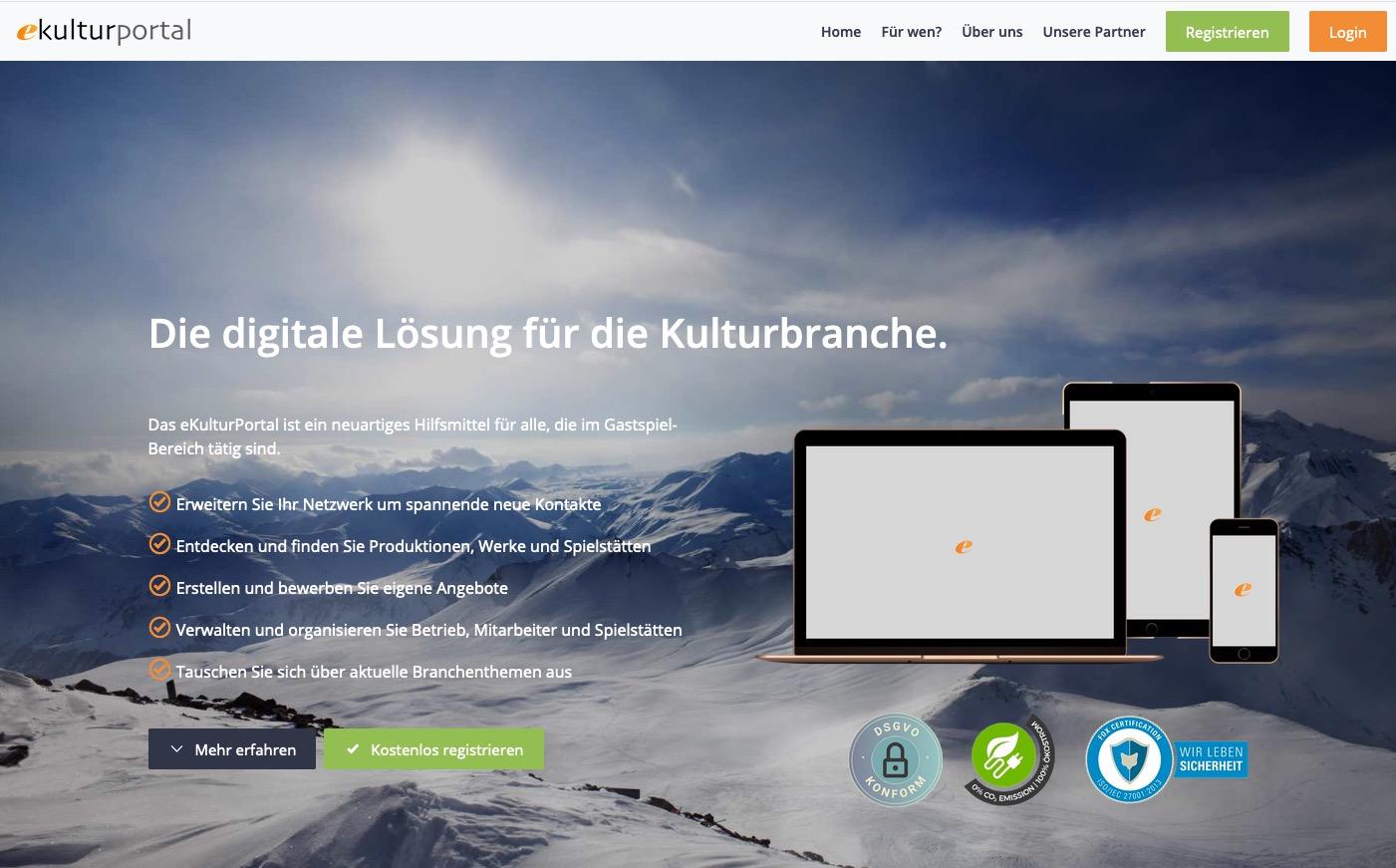 eKulturPortal Homepage